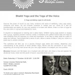 Yoga of the Voice Workshop 2016
